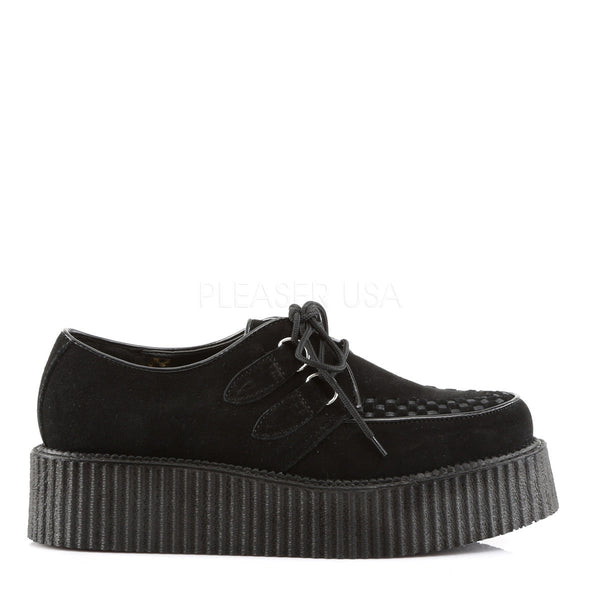 Demonia,DEMONIA CREEPER-402S Men's Black Suede Creepers - Shoecup.com