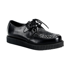 Demonia,DEMONIA CREEPER-602 Men's Black Leather Creepers - Shoecup.com