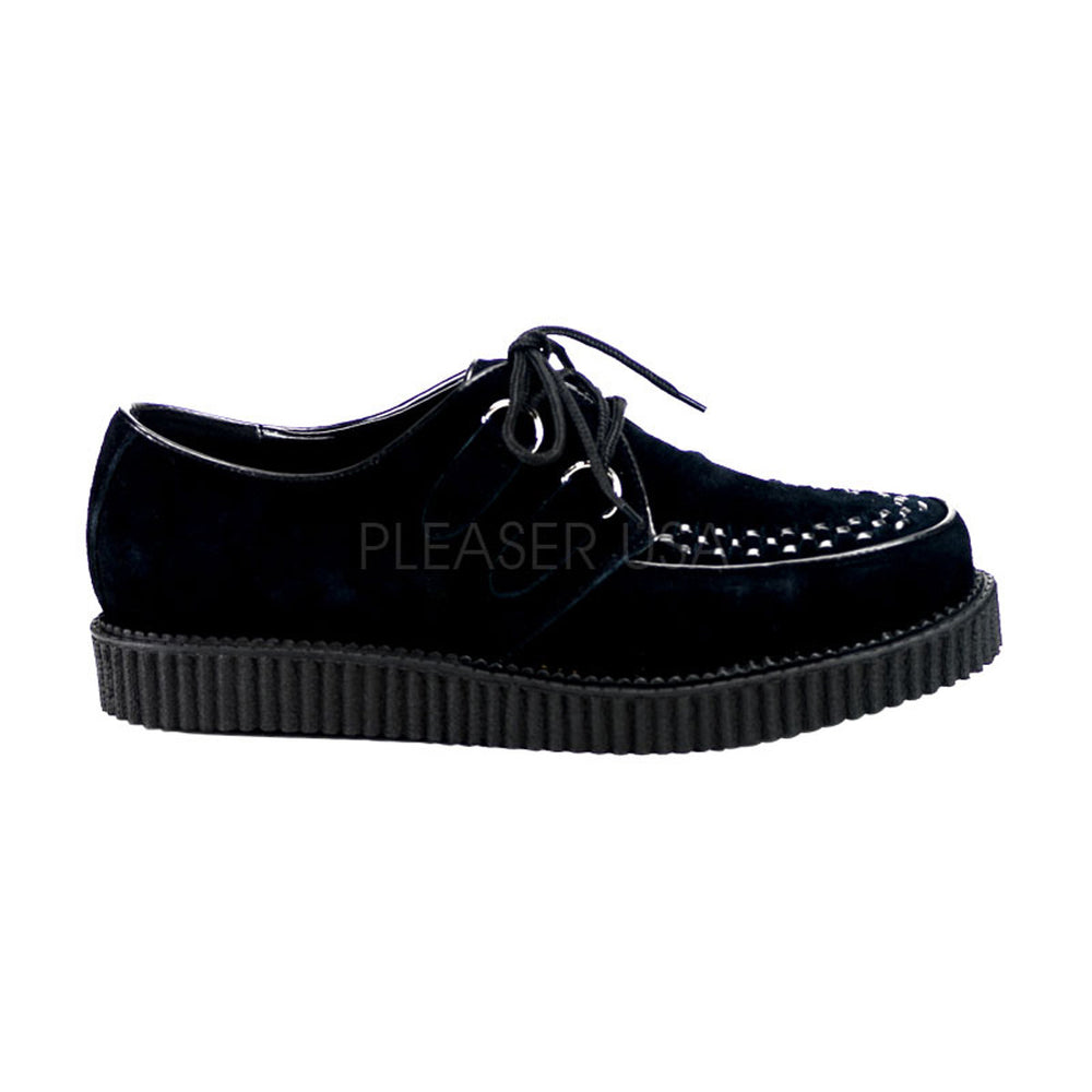 DEMONIA CREEPER-602S Men's Black Suede Creepers