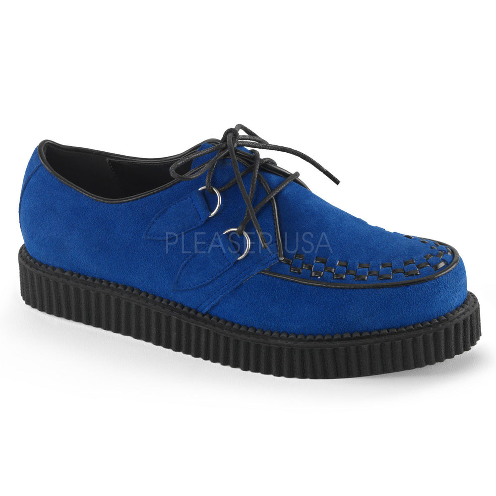 Demonia Men's CREEPER-602S Men's Royal Blue Suede Creepers