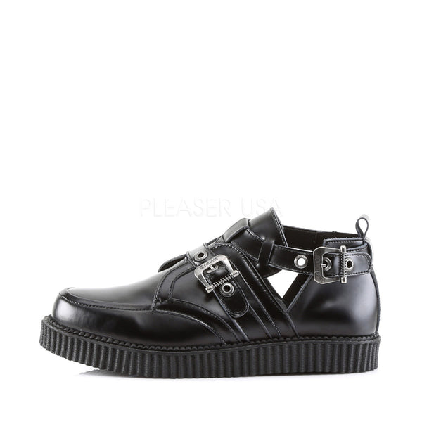 Demonia Men's CREEPER-615 Men's Black Leather Creepers - Shoecup.com - 2