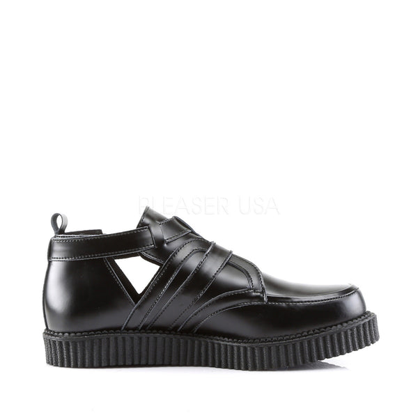 Demonia Men's CREEPER-615 Men's Black Leather Creepers - Shoecup.com - 3