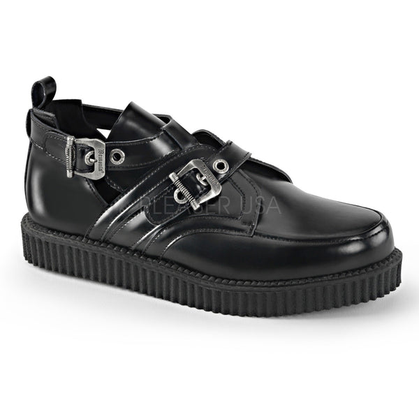 Demonia,Demonia Men's CREEPER-615 Men's Black Leather Creepers - Shoecup.com