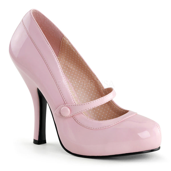 PINUP COUTURE CUTIEPIE-02 Baby Pink Pat Mary Jane Pumps - Shoecup.com - 1