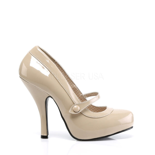 PINUP COUTURE CUTIEPIE-02 Cream Pat Mary Jane Pumps - Shoecup.com - 3