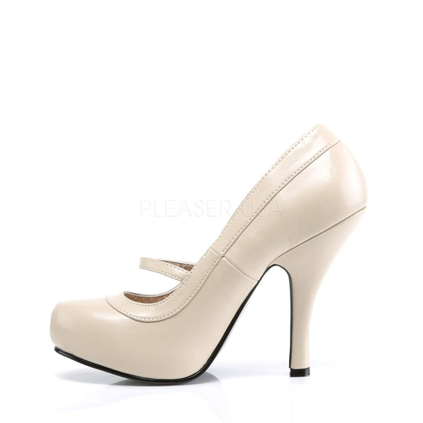 PINUP COUTURE CUTIEPIE-02 Cream Pu Mary Jane Pumps - Shoecup.com - 2