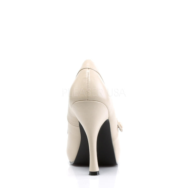 PINUP COUTURE CUTIEPIE-02 Cream Pu Mary Jane Pumps - Shoecup.com - 5