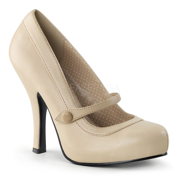PINUP COUTURE CUTIEPIE-02 Cream Pu Mary Jane Pumps - Shoecup.com - 1