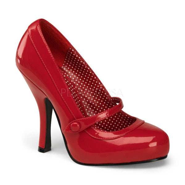PINUP COUTURE CUTIEPIE-02 Red Pat Mary Jane Pumps - Shoecup.com - 1