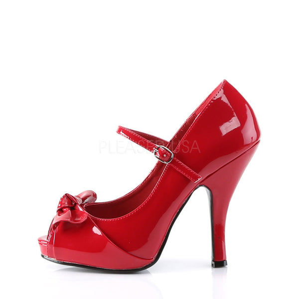 PINUP COUTURE CUTIEPIE-08 Red Pat Mary Jane Pumps - Shoecup.com - 2