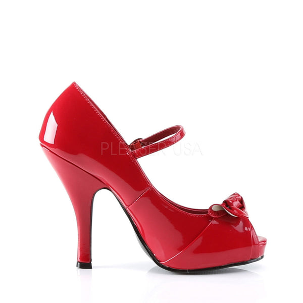 PINUP COUTURE CUTIEPIE-08 Red Pat Mary Jane Pumps - Shoecup.com - 3