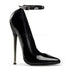 Devious,DEVIOUS DAGGER-12 Black Pat Plain Pumps - Shoecup.com