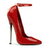 Devious,DEVIOUS DAGGER-12 Red Pat Plain Pumps - Shoecup.com