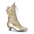 FUNTASMA DAME-115 Gold Pu-Lace Ankle Boots - Shoecup.com