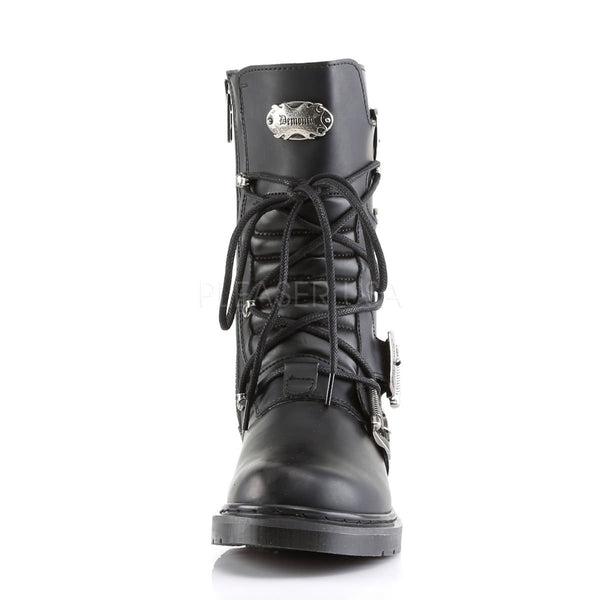 Demonia Men's DEFIANT-306 Men's Black Vegan Leather Goth Punk Combat Boots - Shoecup.com - 4