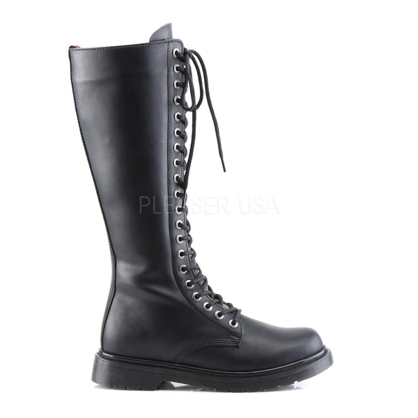 Demonia Men's DEFIANT-400 Men's Black Vegan Leather Goth Punk Combat Boots