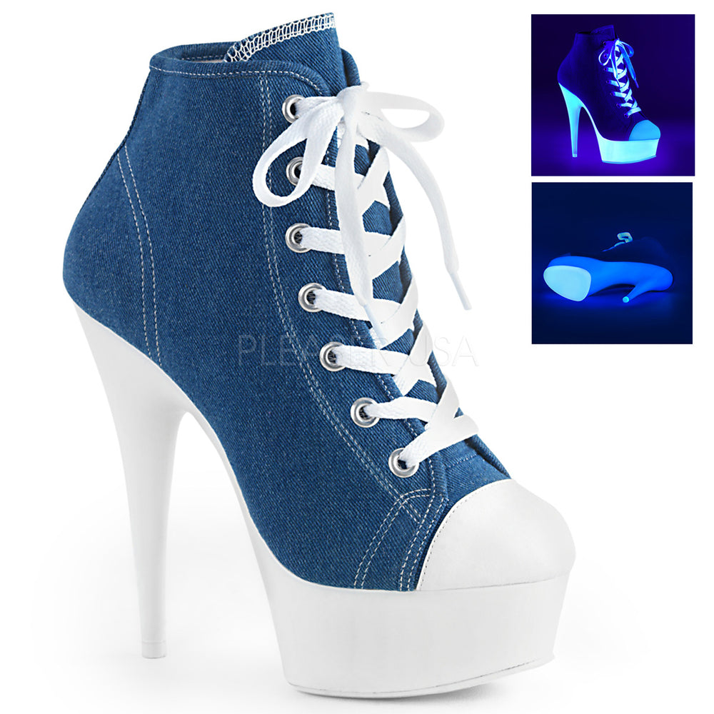 "6"" Heel DELIGHT-600SK-02 Denim Blue Canvas"