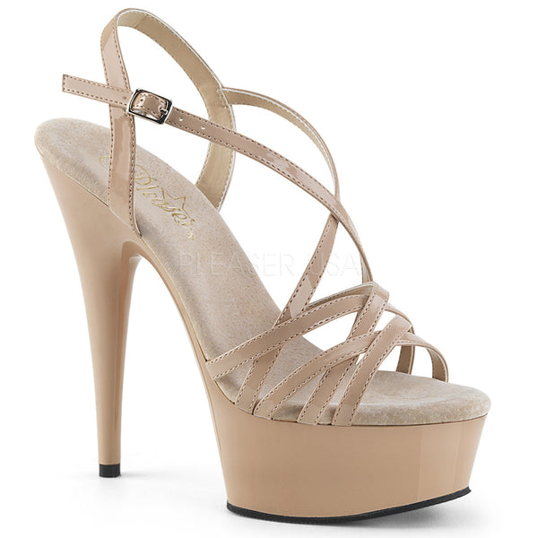 "6"" Heel DELIGHT-613 Nude Exotic Dancing Shoes"