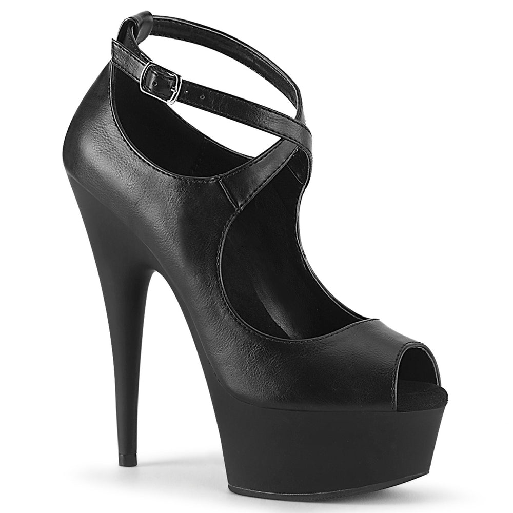 "6"" Heel DELIGHT-653 Black Pu"