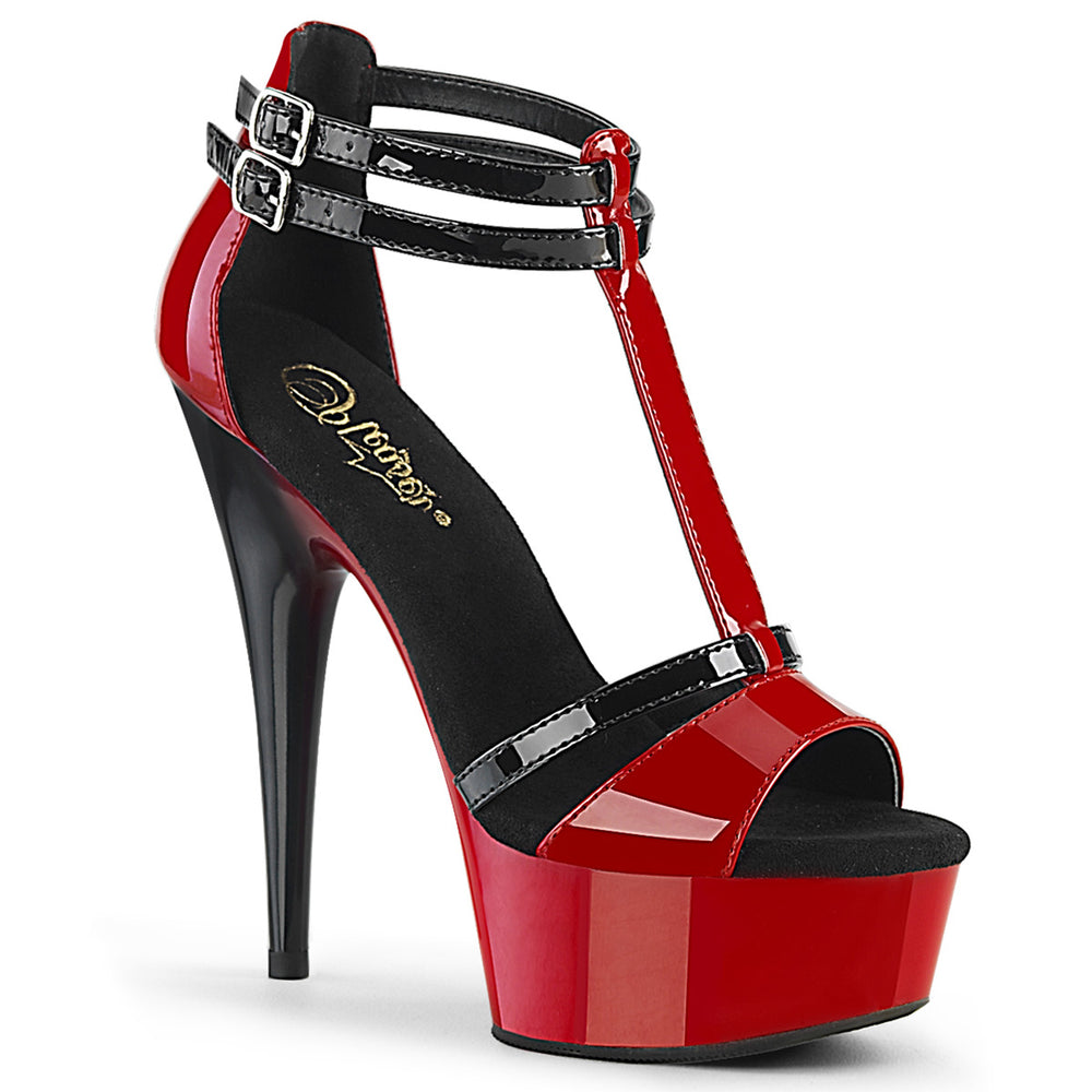 "6"" Heel DELIGHT-663 Red Black"