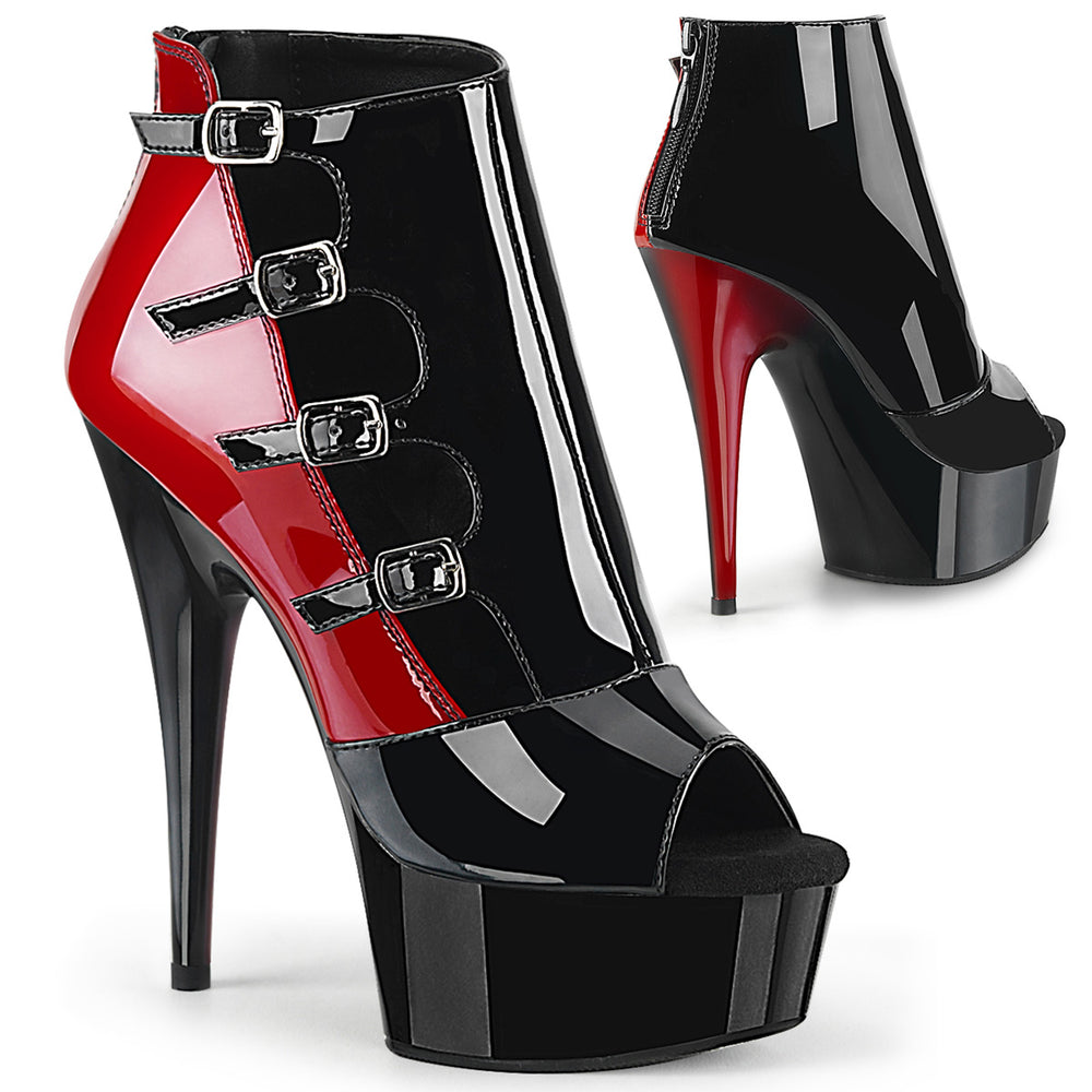 "6"" Heel DELIGHT-681 Black Red"