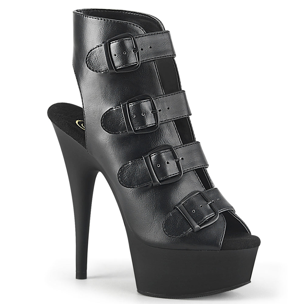 "6"" Heel DELIGHT-683 Black Pu"