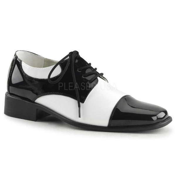 Men's Black and White Disco Shoes - Shoecup.com
