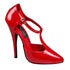 Devious,DEVIOUS DOMINA-415 Red Pat D'Orsay Pumps - Shoecup.com