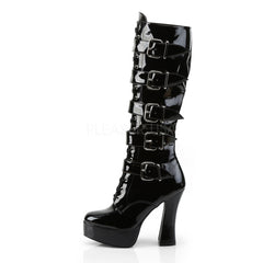 PLEASER ELECTRA-2042 Black Pat Knee High Boots