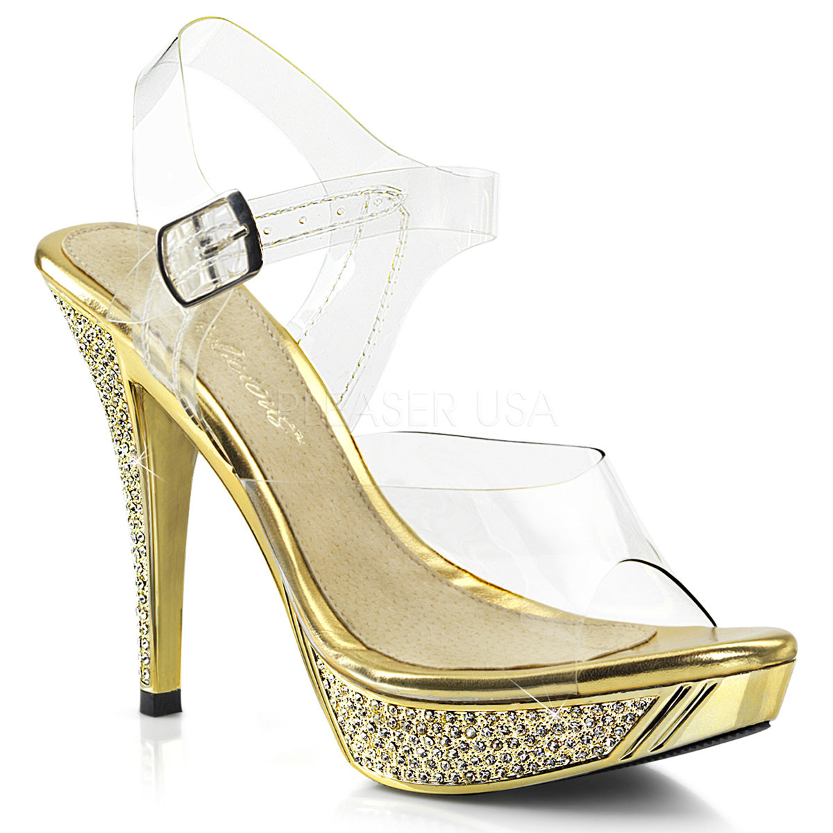 "4"" Heel ELEGANT-408 Gold Chrome"