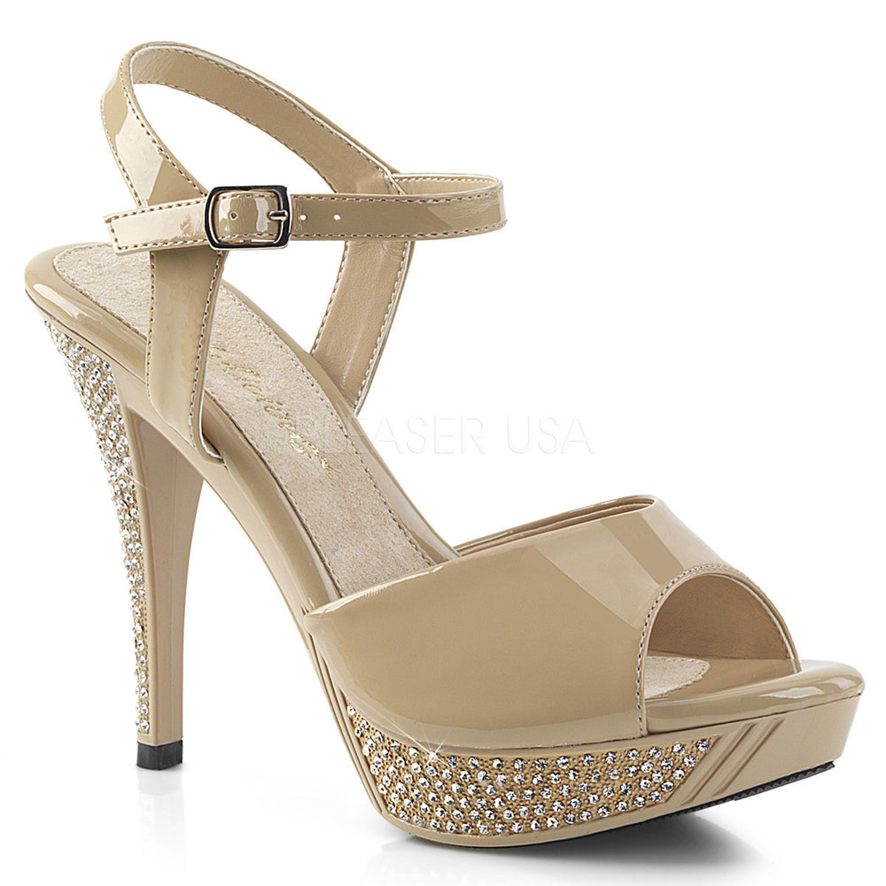 "FABULICIOUS Flair-409 4 1//2/"" Heel Party Prom Bridal Ankle-Strap Sandal"