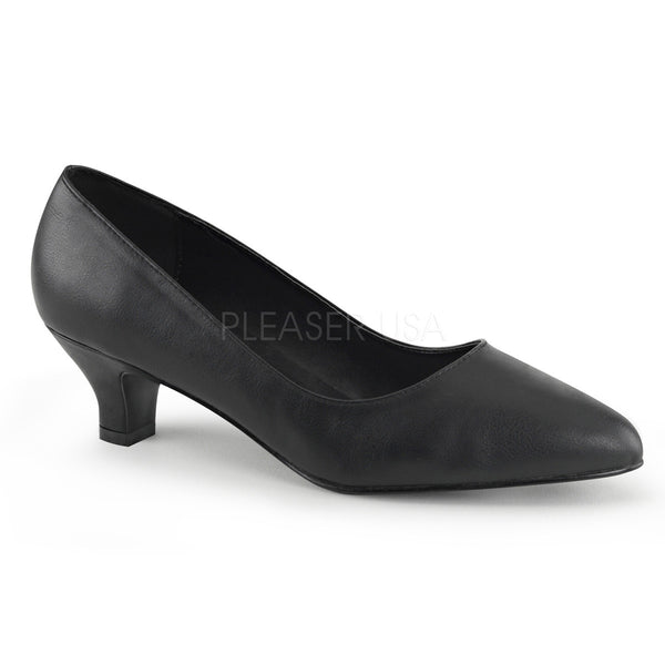 Pleaser Pink Label FAB-420 Black Faux Leather Classic Pumps - Shoecup.com