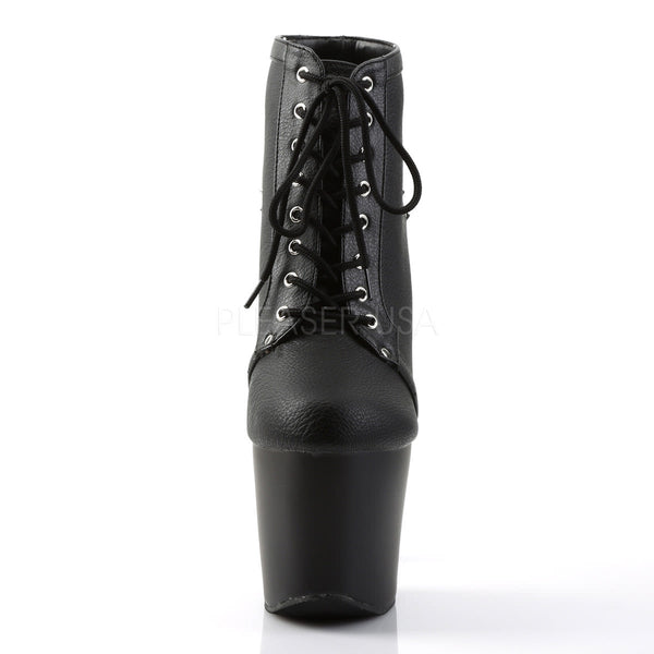 PLEASER FEARLESS-700-28 Black Matte Ankle Boots