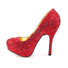 Fabulicious FELICITY-20 Red Satin Pumps