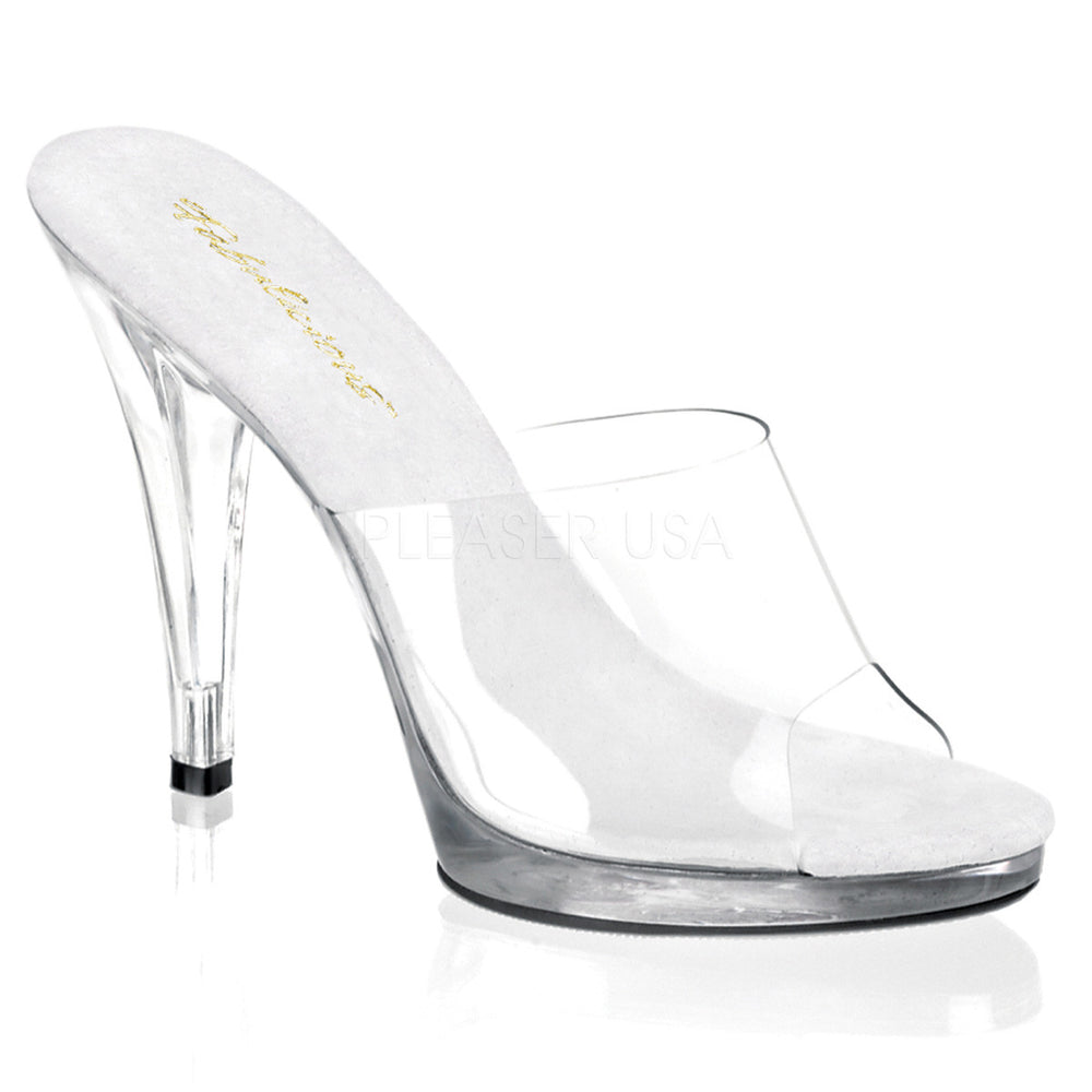 FABULICIOUS FLAIR-401 Clear-Clear Platform Slides