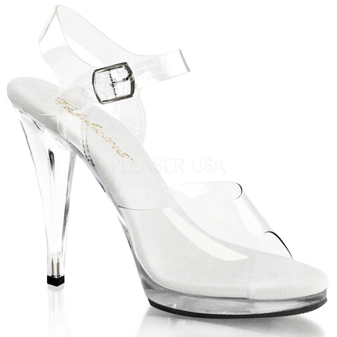 FABULICIOUS FLAIR-408 Clear-Clear Ankle Strap Sandals - Shoecup.com
