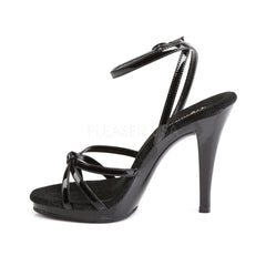 FABULICIOUS FLAIR-436 Black Pat-Black Stiletto Sandals