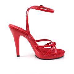 FABULICIOUS FLAIR-436 Red Pat-Red Stiletto Sandals