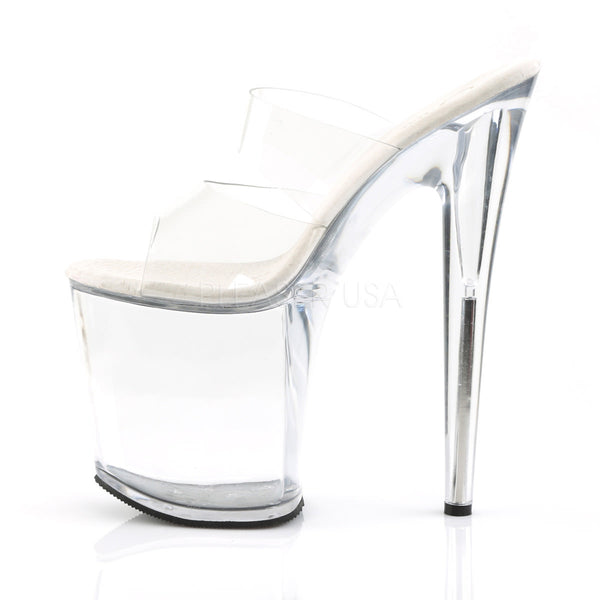 PLEASER FLAMINGO-802 Clear Platform Slides - Shoecup.com - 3