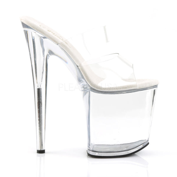 PLEASER FLAMINGO-802 Clear Platform Slides - Shoecup.com - 5