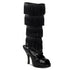 FUNTASMA FLAPPER-168 Black Sequins Knee High Boots - Shoecup.com