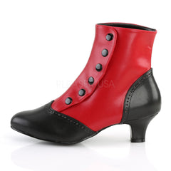 Bordello FLORA-1023 Red Black Pu Bootie