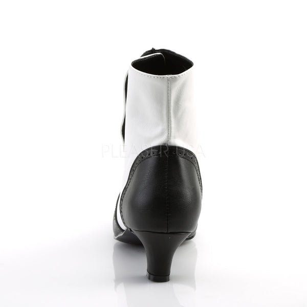 Bordello FLORA-1023 White Black Pu Bootie