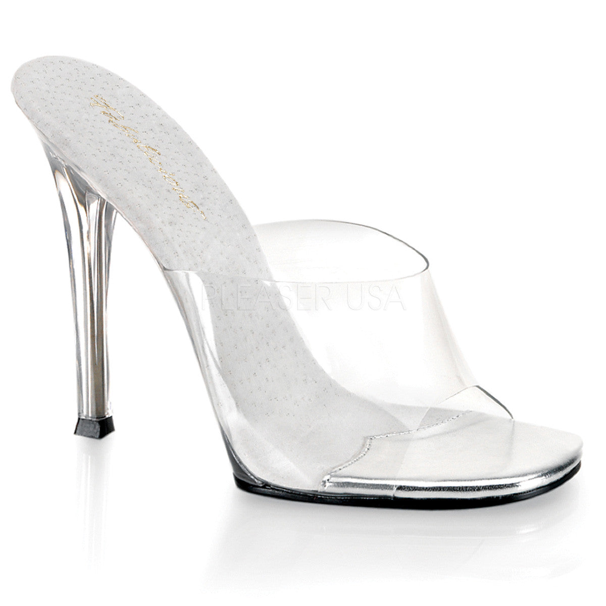 FABULICIOUS GALA-01 Clear Lucite Sandals - Shoecup.com