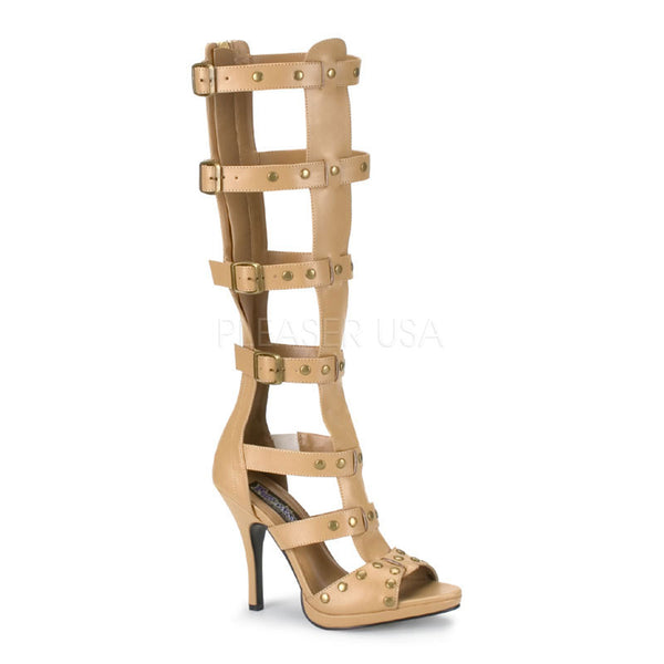 FUNTASMA GLADIATOR-208 Tan Pu Roman Sandals - Shoecup.com