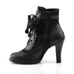Demonia GLAM-200 Black Lace Goth Lolita Boots - Shoecup.com - 3