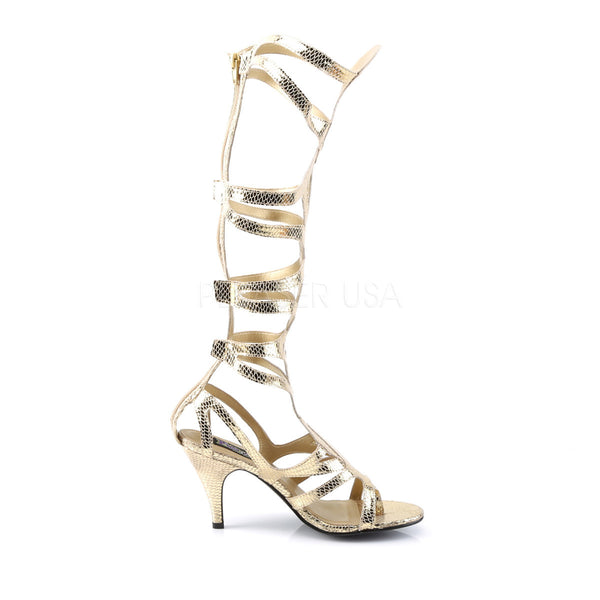 FUNTASMA GODDESS-12 Gold Met Snake Pu Sandals