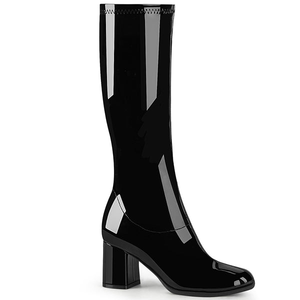 "3"" Heel GOGO-300-2 Black Stretch Pat"