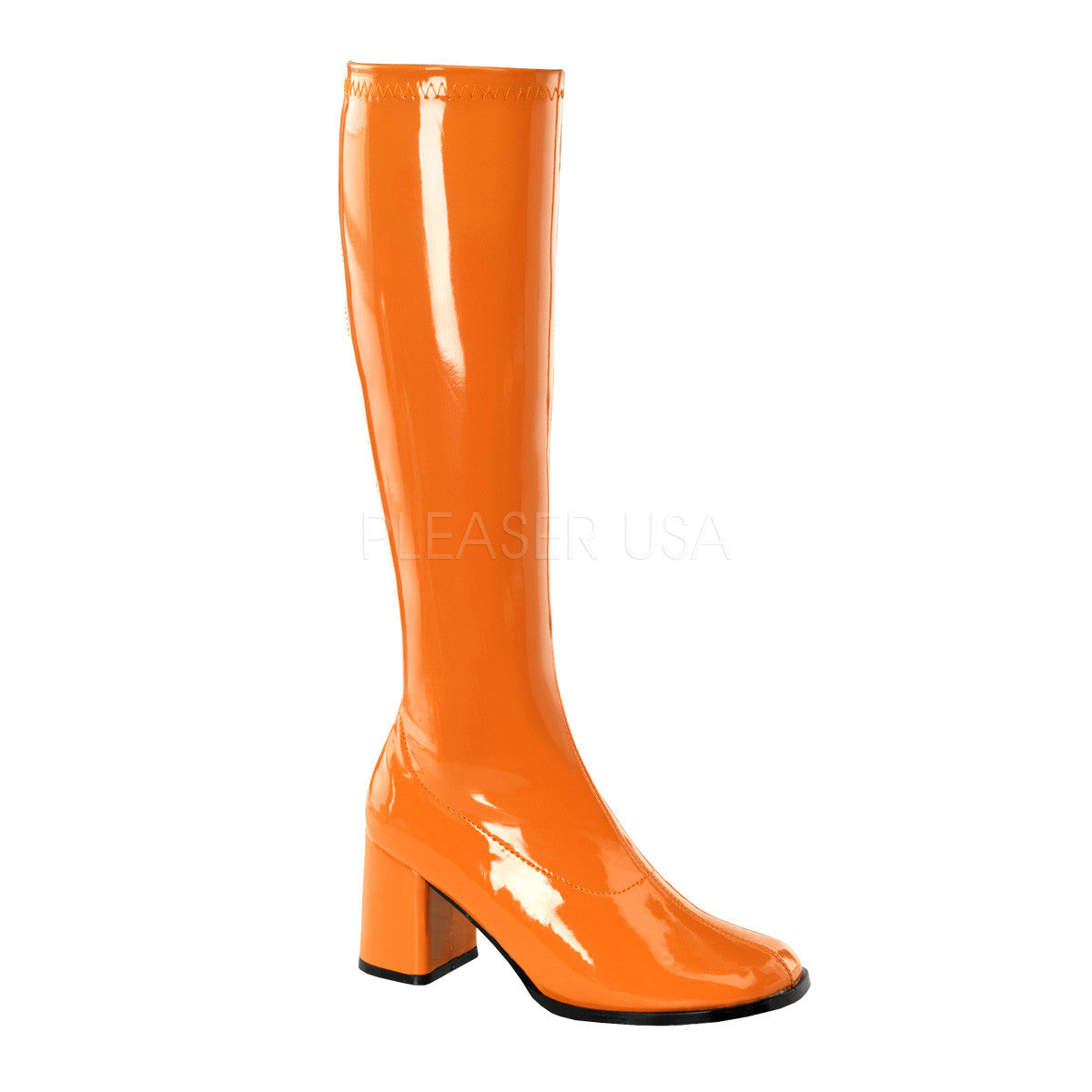 FUNTASMA GOGO-300 Orange Stretch Pat Gogo Boots - Shoecup.com