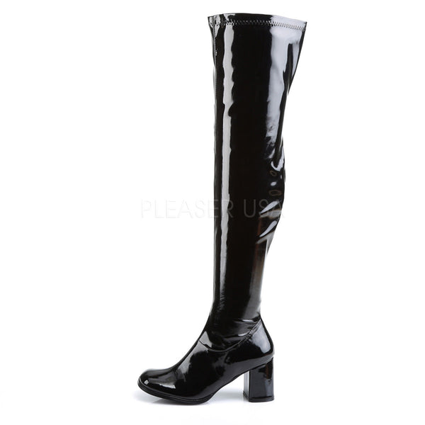 Funtasma GOGO-3000 Black Stretch Patent Gogo Boots